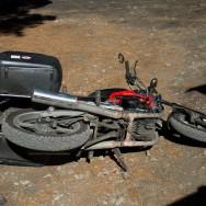 Upsala - am letzten Tag mit Motorrad musste es auch mir noch passieren..