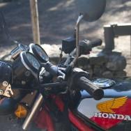 zum Glück ergings meiner Honda nicht wie der V-Strom am Mittwoch