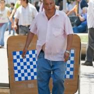 Schach auf Plaza de Armas