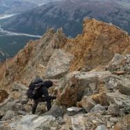 beim Abstieg fanden wir nicht gleich zu unseren Steigeisen zurück,,